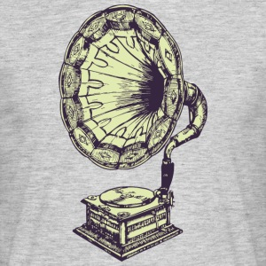 Music vintage gramophone - Men's T-Shirt
