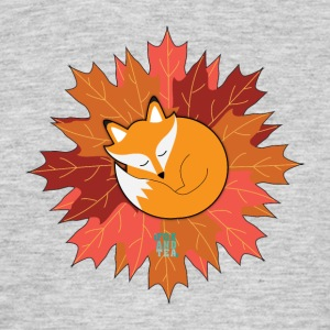 Fox And Tea_ Fall - T-shirt herr
