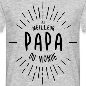 Voted Best Papa Du Monde Aubstd - Men's T-Shirt