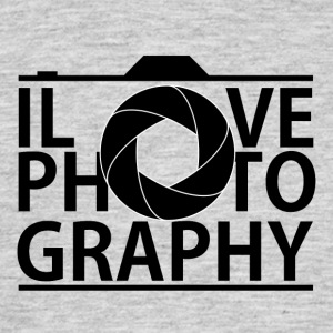 I Love photografy - T-skjorte for menn