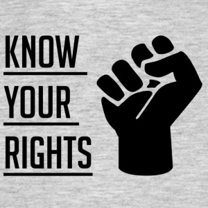 Know Your Rights - T-shirt herr