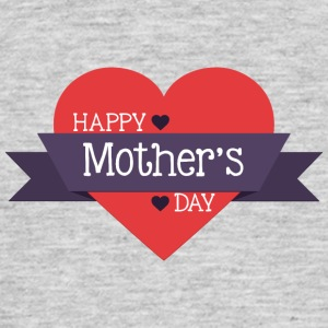 happy mother s day red heart - Men's T-Shirt