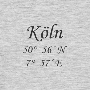 Coordinates Cologne - Men's T-Shirt