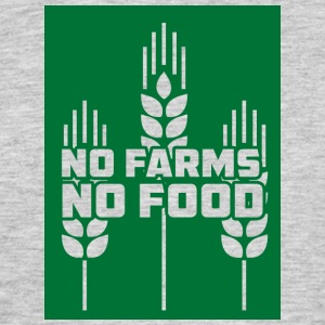 Farmer / Farmer / Farmer: No Farms, No Food - Men's T-Shirt