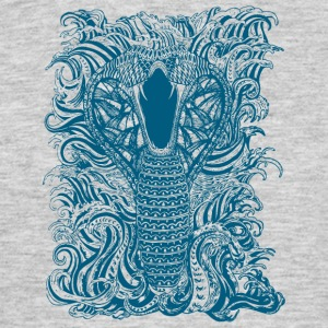 Slang-en-water-in-Blue - Mannen T-shirt