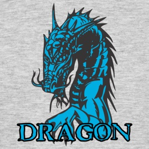 agry looking dragon - Men's T-Shirt