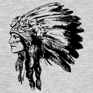 Indian face American Illustration - Men's T-Shirt