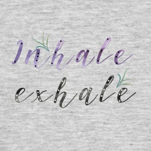 Inhale Exhale - Herre-T-shirt