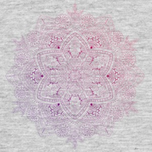 Mandala hand drawn, in red and purple tones - Men's T-Shirt