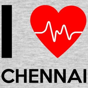 I Love Chennai - I Love Chennai - T-skjorte for menn
