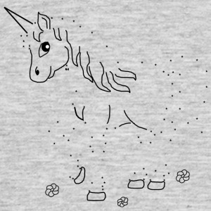 Unicorn Paint by Numbers - T-shirt herr