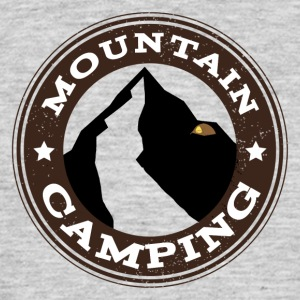 Camping Mountain - T-skjorte for menn