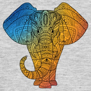 Elephant in rainbow color - Men's T-Shirt