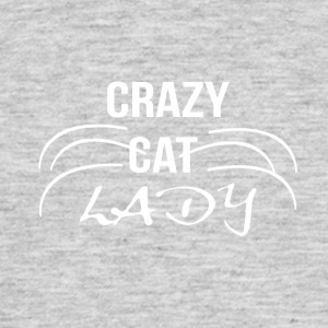 crazy cat Lady1 wit - Mannen T-shirt