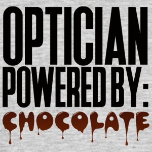 Opticien: Opticien alimenté par: Chocolat - T-shirt Homme