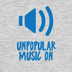 Hipster: impopulära Music On - T-shirt herr