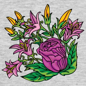 1purple blomster - Herre-T-shirt