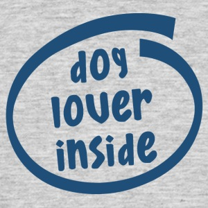 dog lover inside (1843C) - Men's T-Shirt
