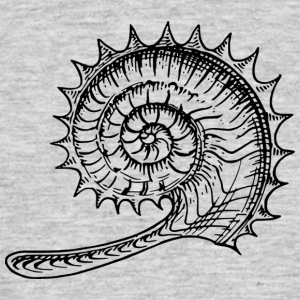 Black and withe shell - Men's T-Shirt