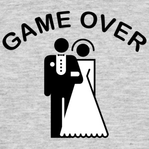 Game Over Just Married - Mannen T-shirt