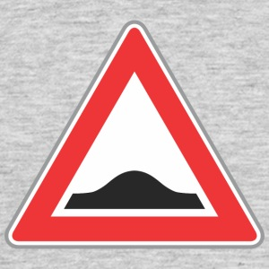 Road Sign Up triangle red - Men's T-Shirt