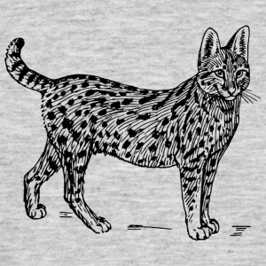 Wild cat black and withe - Männer T-Shirt