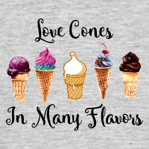 Love Cones In Many Flavors - Men's T-Shirt