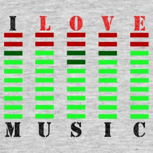 I Love Music - Herre-T-shirt