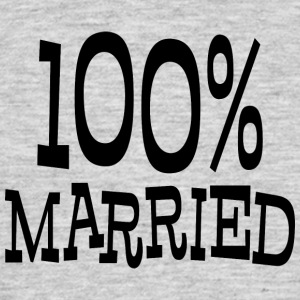 Just Married 100% - T-shirt herr