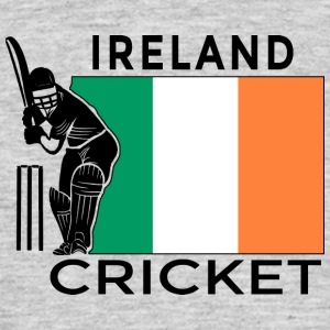 Irland Cricket Player Flag - T-skjorte for menn