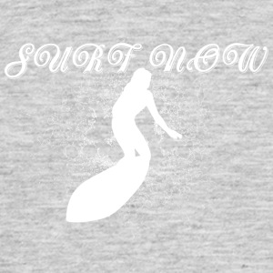 Surfer girl hvit - T-skjorte for menn