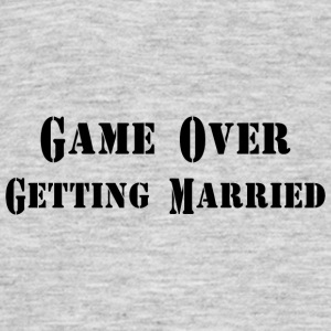 GAME OVER TROUWEN - Mannen T-shirt