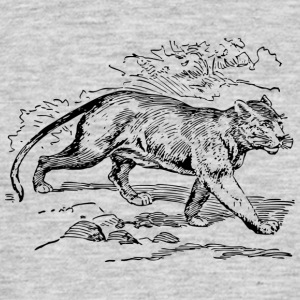 Wild cat black and withe - Men's T-Shirt