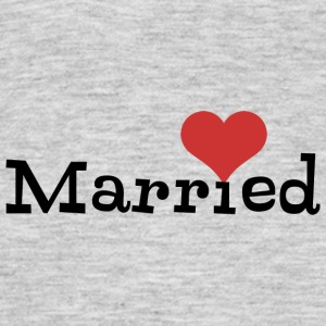 Just Married With Heart - Men's T-Shirt