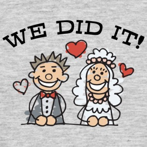 Just Married We Did It - T-shirt Homme