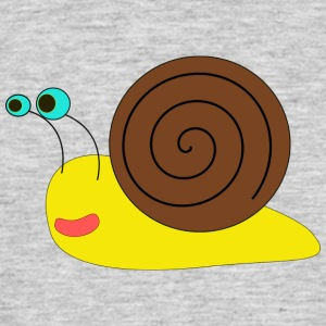 Snail yellow and brown - Männer T-Shirt