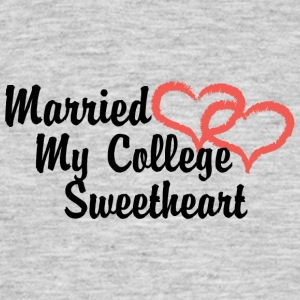 Just Married My College sweetheart - T-shirt Homme