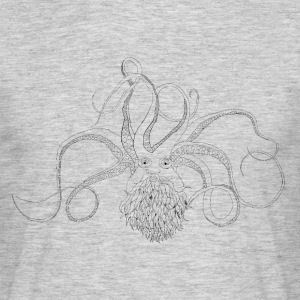 Bearded Octopus svart - T-skjorte for menn