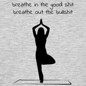 Yoga - Breathe in - Breathe out - Men's T-Shirt