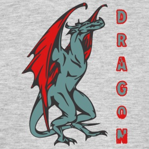 tall standign dragon färg - T-shirt herr