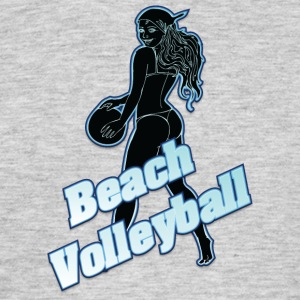 beachvolley svart - T-shirt herr
