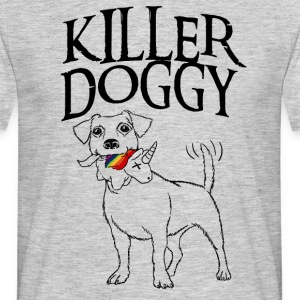 Killer Doggy Unicorn - Unicorn Svart - T-shirt herr
