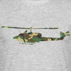 Camouflage Helikopter - Herre-T-shirt