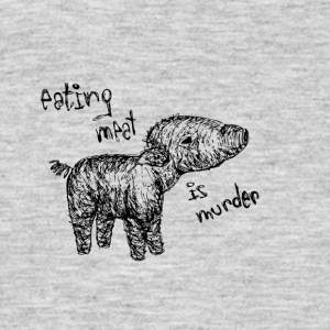 Eating meat is murder - Men's T-Shirt