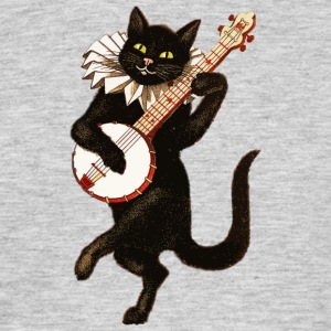 Dancing Cat - Mannen T-shirt