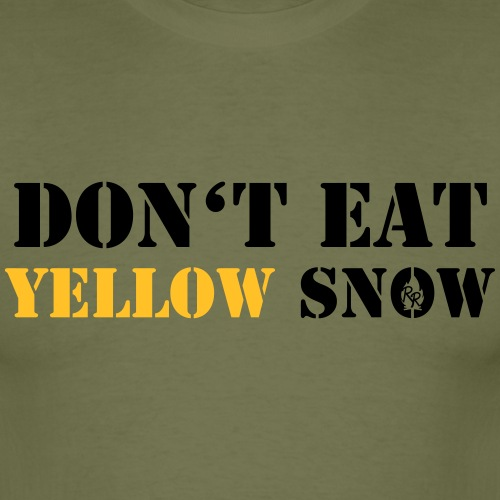 Yellow Snow - Männer T-Shirt