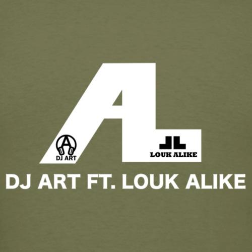 DJ Art ft. Louk Alike (donkere pull-kleuren) - Mannen T-shirt
