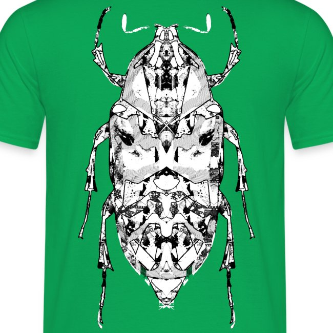 Insect on the back zwart wit