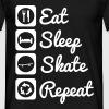 Eat sleep skate Skateboarding - Camiseta hombre