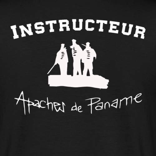 logo apaches Instructeur blanc - T-shirt Homme